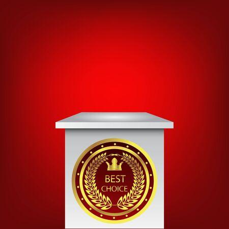 10 best: Single empty pedestal  best choice vector eps 10 Illustration
