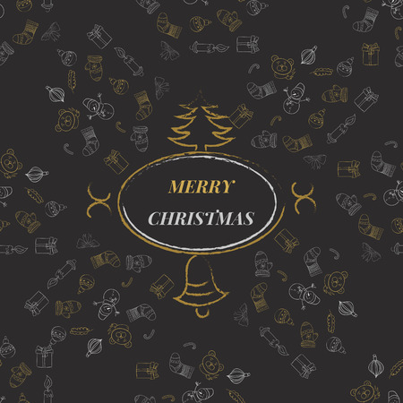 decrepit: Merry Christmas Background with Typography  Lettering Greeting card eps 10