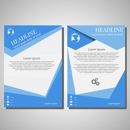 Vector Brochure Flyer design Layout template, size A4, Front page and back page, infographics