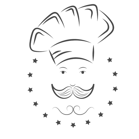 chef s hat: Chef. cook hat witn mustache