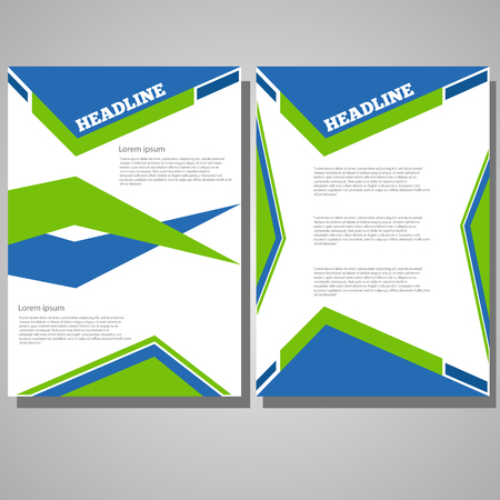 Vector design flyer brochure template abstract