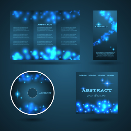 placecard: Design templates collection for banners, flyers and posters. Bokeh light design. Shining banners set. Vector illustration eps  10 Illustration