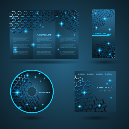 placecard: Design templates collection for banners, flyers and posters. star light design. Shining banners set. Vector illustration eps  10 Illustration