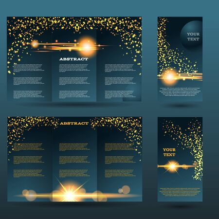placecard: Light design templates collection for banners, flyers, placards and posters. Bokeh light design. Vector illustration eps 10
