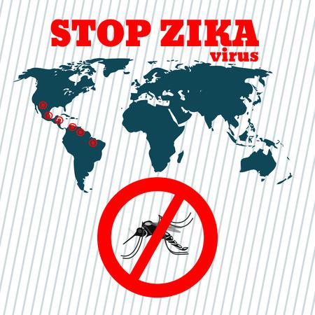 Zika virus disease Zika virus design template Isolated vector illustration eps 10