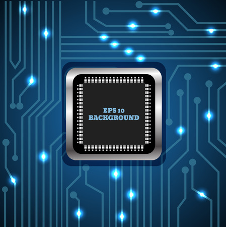 Abstract vector background processor and chip  engineering  motherboard  computer design vector illustration eps 10