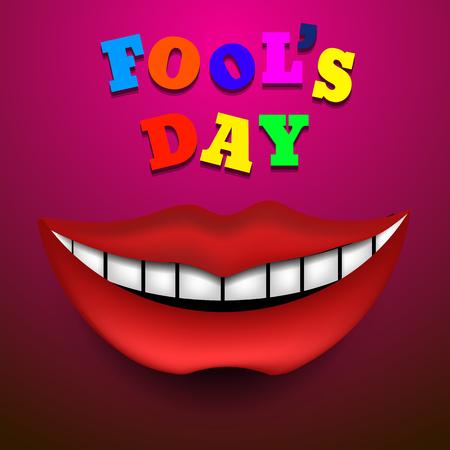 Fools Day Vector illustration vector eps 10