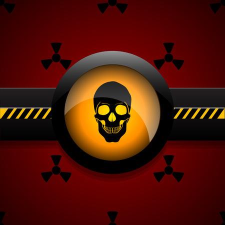 Radiation warning skull icon  vector illustration eps 10 Illustration