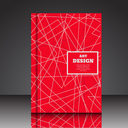 Abstract composition red  brochure background white lines  web eps10 vector illustration Illustration
