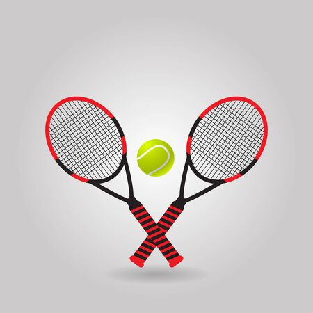 Red vector illustration of tennis eps 10 vector