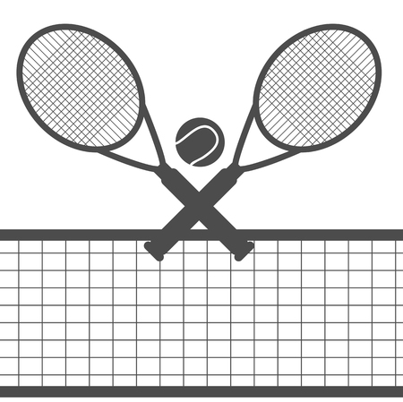 Tennis  design over white background vector illustration eps 10 Ilustração