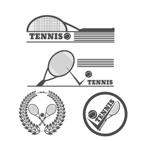 Tennis symbol design over white background vector illustration eps 10