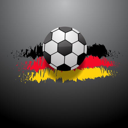 Abstract football  background German flag eps 10 vector illustration