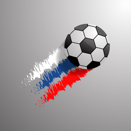Abstract football  background Russia flag eps 10 vector illustration