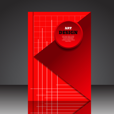 Abstract composition brochure background A4 eps10 vector illustration 9