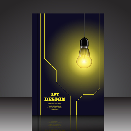 Abstract idea lamp composition brochure background A4 eps10 vector illustration 3