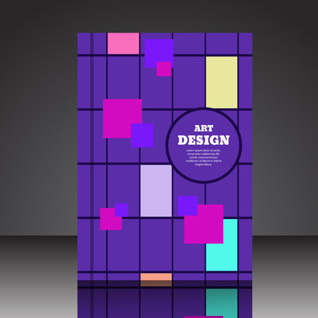 Abstract composition brochure background A4 eps10 vector illustration 10