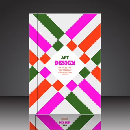 Abstract composition brochure background A4 eps10 vector illustration 44