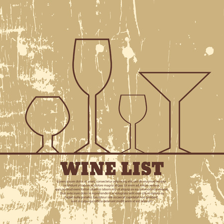 Wine menu wooden vector format eps 10