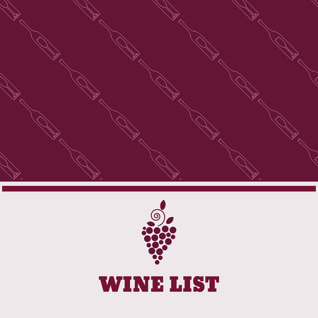 Restaurant menu design wine list flyer poster eps 10