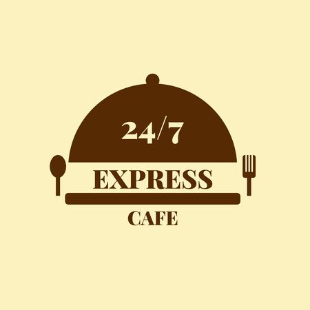 Express cafe color  for your design Stock Illustratie