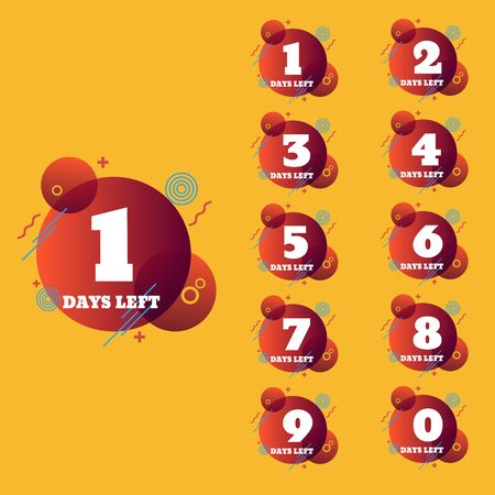 Days left to go banners collection badges sale, landing page, banner set Ilustração