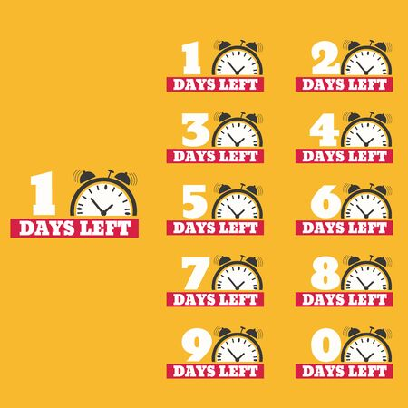 Days left to do clock  banners collection set
