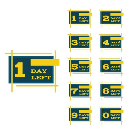 Days left to go blue  yellow design banners collection