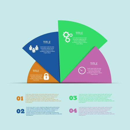 Infographic pie design element options  vector  eps 10