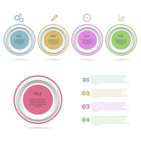Infographic circle design element options design vector  eps 10