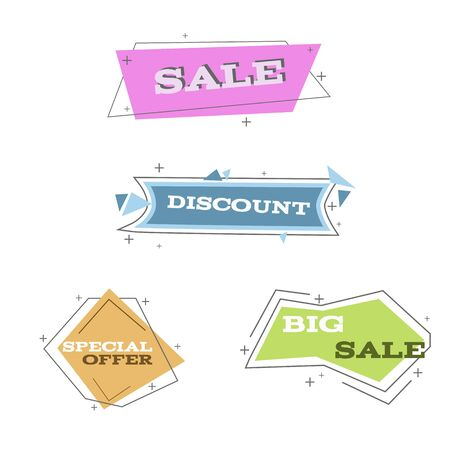 Flat linear banner set eps 10 vector illustration