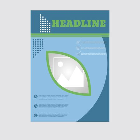 A4 brochure for your design eps 10 vector Illusztráció