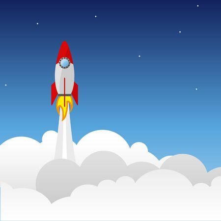 Rocket launch ship vector illustration concept of business eps 10