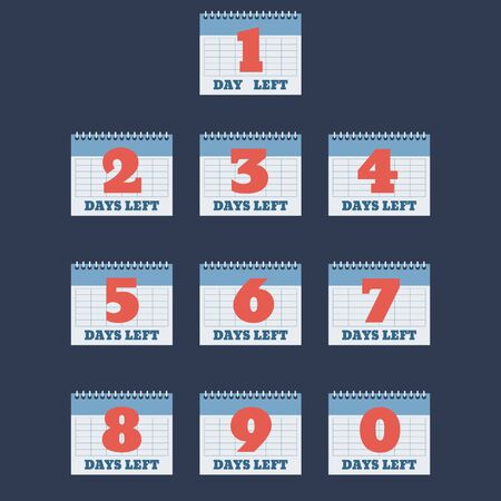set of number days left countdown vector illustration eps 10 template for promotion sale landing page  banner flyer