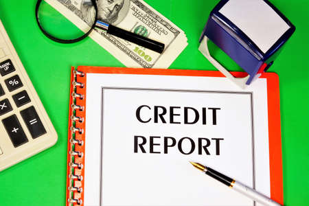 Credit report-text label in the office Registrar's planning folder. Review of the effectiveness of financial planning.