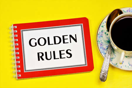 Golden rules-text inscription in the planning Notepad. Knowledge can change your life for the better.