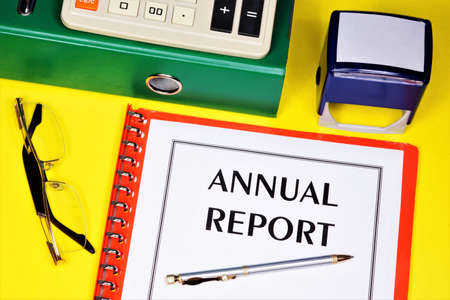 Annual report-text label in the business plan folder. Expresses a reliable opinion of the company's activities and its assessment.