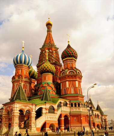 Cathedral of the Intercession - St. Basil's Cathedral on red square in Moscow, a monument of Russian architecture. Construction of the Cathedral was carried out from 1555 to 1561. The Central Church was built in honor of the Intercession of the virgin, co Sajtókép