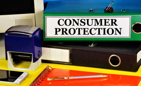 Consumer protection. Text label on the folder office of the Registrar. Settlement of relations arising between the consumer of goods or services and the contractor, seller.