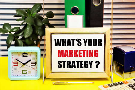 What's your marketing strategy. Planning to achieve a sustainable competitive advantage and search for new marketing opportunities. Effective administration and control.