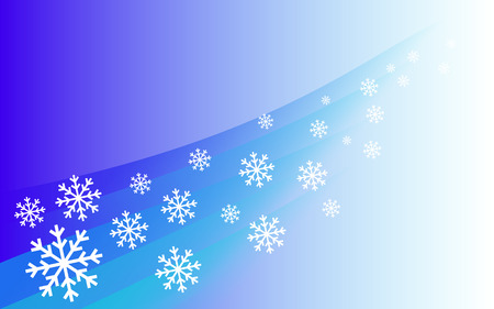 flying snowflakes - blue face and white snowflakes