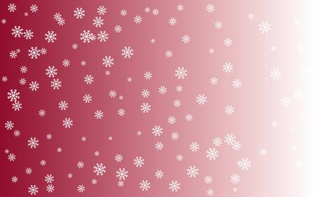 blithe: Snowy background - red face and white snowflakes Illustration