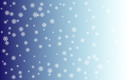 to flit: Snowy background - blue face and white snowflakes Illustration