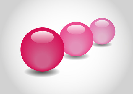 spherule: PINK 3D color Glossy Ball in vector