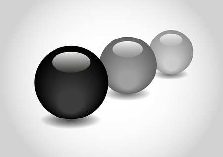 spherule: BLACK 3D color Glossy Ball in vector