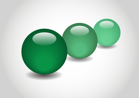 3d ball: GREEN 3D color Glossy Ball in vector