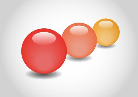 spherule: ORANGE 3D color Glossy Ball in vector