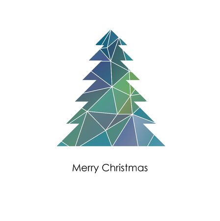 snippet: vector christmas tree made from mosaic - original new year card