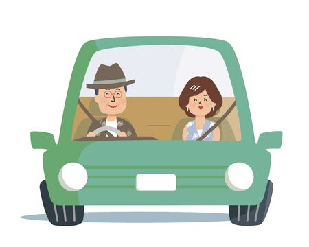 The old man and the grandmother who drive