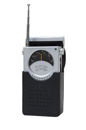receiver: Portable radio receiver isolated